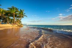 Landscape of paradise tropical island beach Royalty Free Stock Photos