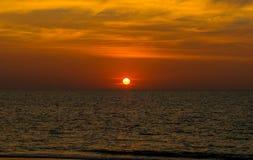 Landscape of paradise tropical island beach, sunrise shot Royalty Free Stock Image