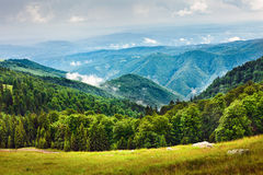 Landscape with Parang mountains in Romania Stock Image