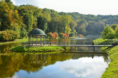 Landscape park in autumn Stock Image