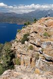 Calanques di Piana / Calanques of Piana 05. Landscape park Calanques near Piana, Corsica. Fantastic pink, red an grey rock formations. Amazing place, you can stock photo