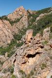 Calanques di Piana / Calanques of Piana 10. Landscape park Calanques near Piana, Corsica. Fantastic pink, red an grey rock formations. Amazing place, you can stock images