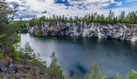 Landscape Park Ruskeala 2. Mining Park Ruskeala - tourist complex, located in the Republic of Karelia Sortavala region near the village Ruskeala. The main object Royalty Free Stock Photos