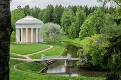 Landscape Park In The Suburbs Of St. Petersburg - Pavlovsk. royalty free stock photography