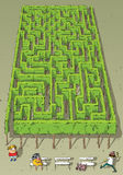 Landscape Park Trees Maze Game Stock Photography