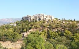 Landscape of Parthenon Acropolis in Athens Greece Royalty Free Stock Photos