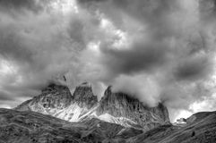Landscape of Passo Sellla Royalty Free Stock Images