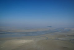 Landscape in pastel colors, Mont Saint Michel, France Royalty Free Stock Photo
