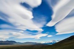 Patagonian sky in Tierra del Fuego stock photo