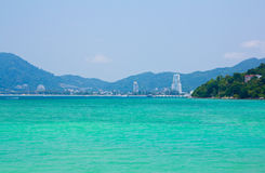 Landscape of Patong City Stock Image