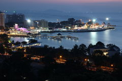Landscape of pattaya. The night landscape of pattaya in bankkok chonburi Stock Image