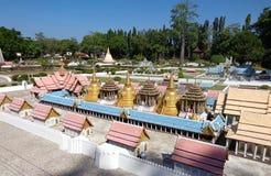 Landscape. PATTAYA THAILAND Mini Siam is a famous miniature park attraction Stock Image