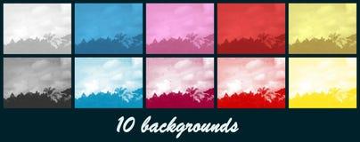 Landscape. Patterns - 10 background - Border or texture Stock Image