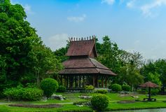 Landscape pavilion. Landscape from Thailand stock photo