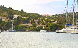 Landscape of Paxos Ionian islands Greece Royalty Free Stock Image