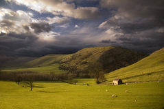 Landscape in Peak District. England Royalty Free Stock Images