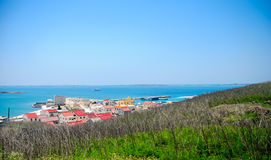 Landscape in Penghu. Penghu Islands, nearly a hundred of islands of varying sizes, with a total area of Stock Image