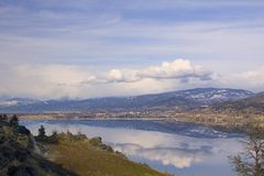 Landscape of Penticton, British Columbia Stock Images