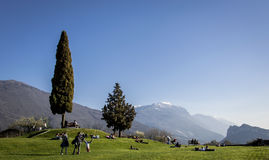 Landscape with people Stock Image