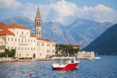 Landscape of Perast, Kotor bay, Montenegro Royalty Free Stock Photos