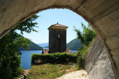 Landscape in Perast Royalty Free Stock Photos