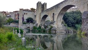 Landscape. Perfect bridge in cardona, medieval town in spain royalty free stock photos