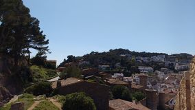 Landscape. Perfect view from a town in Spain royalty free stock images