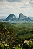 Landscape of Perlis. Landscape view of mountain and valley from high ground Stock Photos