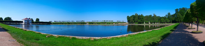 Landscape in Peterhof Royalty Free Stock Images