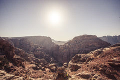 Landscape of Petra, Jordan Royalty Free Stock Photography