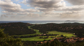 Landscape pevero golf club sardinia esmerald cost Royalty Free Stock Photography