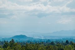The landscape at Pha Chor National Park, Chiang Mai, Thailand. stock photos