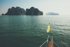 Landscape of Phang Nga. Archipelago near Phuket, Thailand. Boat travel tour to islands Stock Image