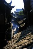 Landscape of Phoenix Ancient Town. `Fenghuang` is Chinese for `Phoenix`, the mythical bird of good omen and longevity that is consumed by fire to be re-born royalty free stock photo