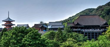 Landscape Photo of Asian Buildings Royalty Free Stock Images