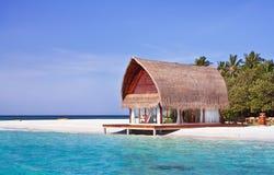 Landscape photo of beach house Royalty Free Stock Photo