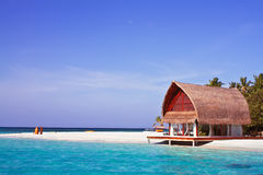 Landscape photo of beach house Stock Image