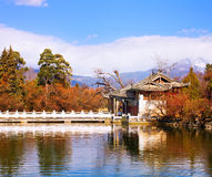 Landscape photo of Beautiful Pavilion Stock Photography