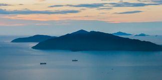 Landscape photo of beautiful sunrise Royalty Free Stock Photography