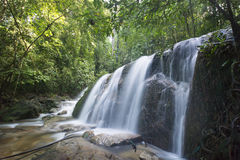 Landscape photo. beautiful waterfall in rainforest Stock Image