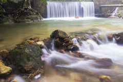 Landscape photo. beautiful waterfall in rainforest Stock Images