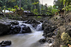 Landscape photo. beautiful waterfall in rainforest Royalty Free Stock Image