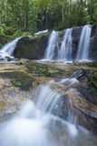Landscape photo. beautiful waterfall in rainforest Royalty Free Stock Photography