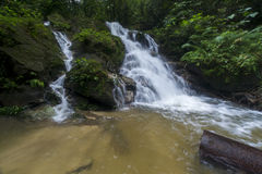 Landscape photo. beautiful waterfall in rainforest Royalty Free Stock Photo