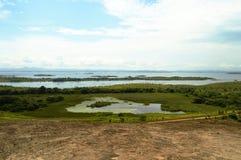 Caroni riverside aerial view, Venezuela South america. Landscape photo of Caroni riverside aerial view, Venezuela South America. Tropical landscapes in Latin stock images