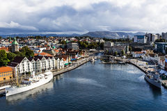 A landscape photo of the city of Stavanger in Norway. Picture taken September 2016. A high angle Panoramic view of the city of Stavanger in Norway. Stavanger is Stock Photo