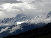 Landscape photo of Himalayas. Mountain view from Auli,India Stock Images