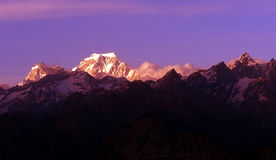 Landscape photo of Himalayas. Mountain view from Auli,India Stock Photo