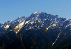 Landscape photo of Himalayas. Mountain view from Auli,India Royalty Free Stock Photography