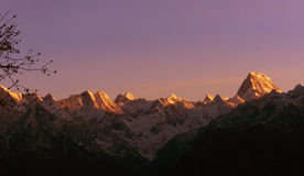 Landscape photo of Himalayas. Mountain view from Auli,India Royalty Free Stock Photo